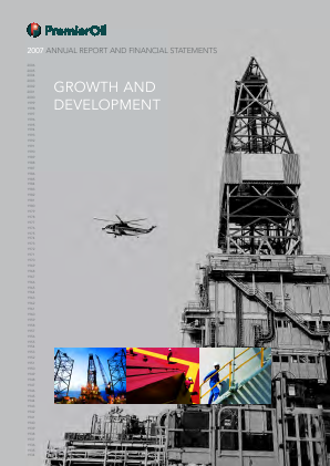 Premier Oil Plc annual report 2007
