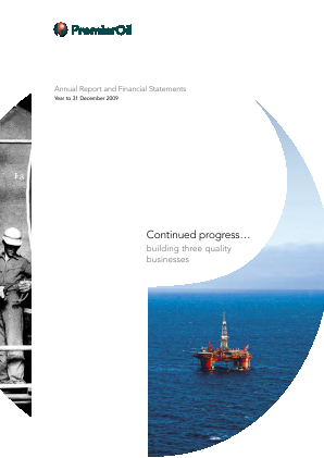 Premier Oil Plc annual report 2009