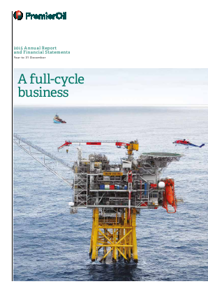Premier Oil Plc annual report 2015