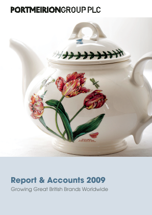 Portmeirion Group annual report 2009