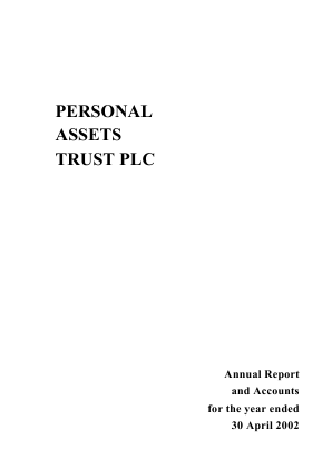 Personal Assets Trust annual report 2002