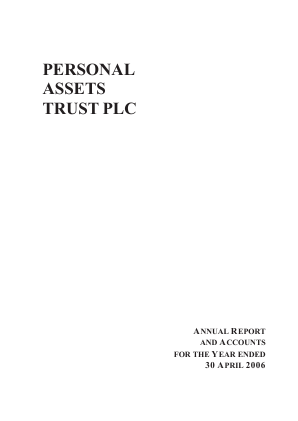 Personal Assets Trust annual report 2006