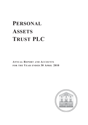 Personal Assets Trust annual report 2010