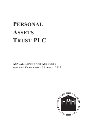 Personal Assets Trust annual report 2012