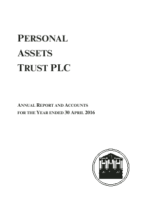 Personal Assets Trust annual report 2016