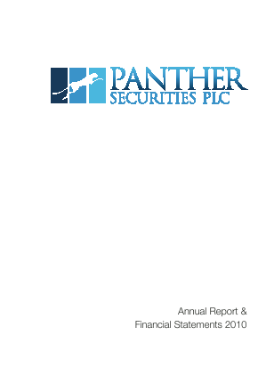 Panther Securities annual report 2010