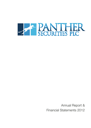 Panther Securities annual report 2012
