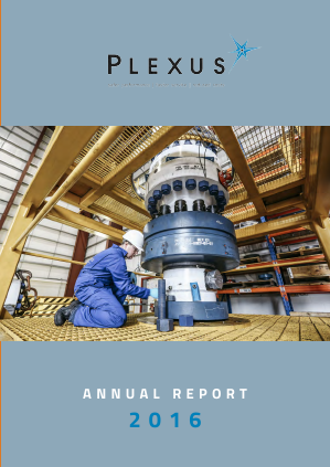Plexus Holdings annual report 2016