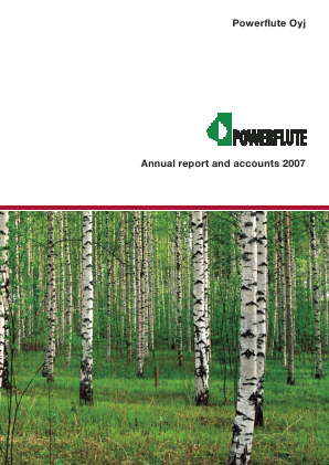 Powerflute OYJ annual report 2007