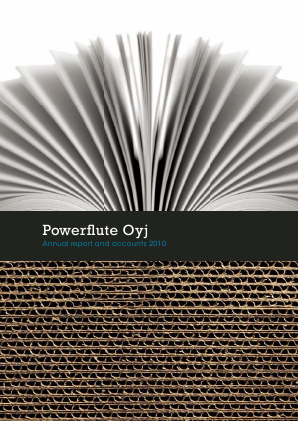 Powerflute OYJ annual report 2010