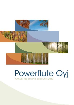 Powerflute OYJ annual report 2013