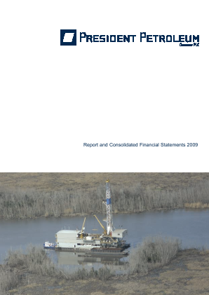 President Energy Plc annual report 2009