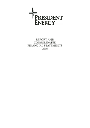 President Energy Plc annual report 2016