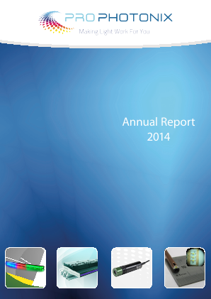Prophotonix annual report 2014