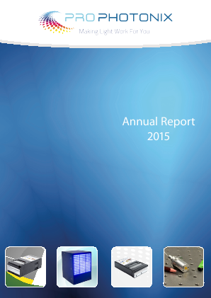 Prophotonix annual report 2015