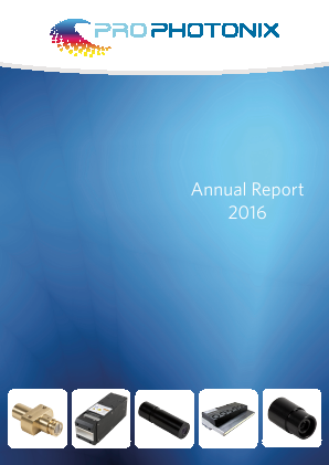 Prophotonix Ltd annual report 2016