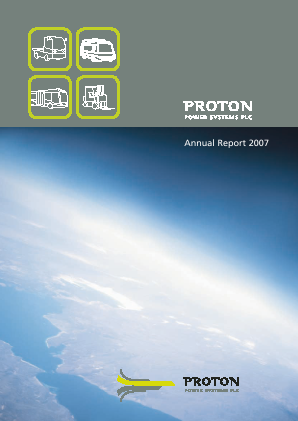 Proton Power Systems Plc annual report 2007