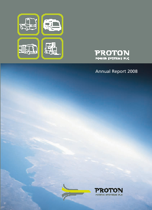 Proton Power Systems Plc annual report 2008