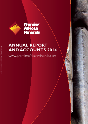Premier African Minerals annual report 2014