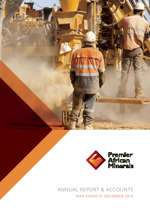 Premier African Minerals annual report 2016