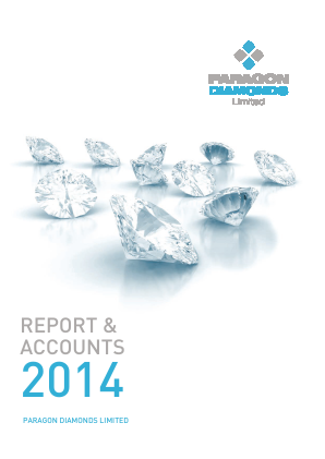 Paragon Diamonds annual report 2014