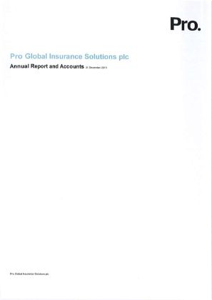 ACHP PLC (Previously Pro Global Insurance Solutions Plc) annual report 2015