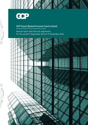 GCP Asset Backed Income Fund (previously Project Finance Investments ) annual report 2016