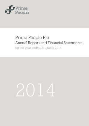 Prime People annual report 2014