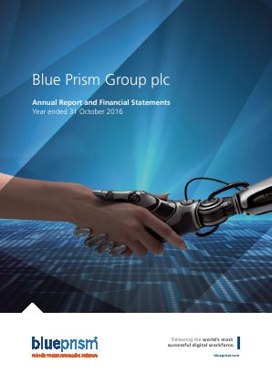 Blue Prism annual report 2016