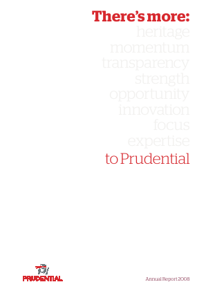Prudential Plc annual report 2008