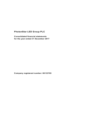Photonstar Led Group Plc annual report 2017
