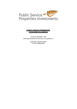 Public Service Properties Investmnt annual report 2014