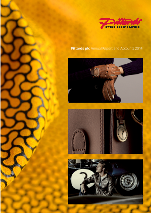 Pittards Plc annual report 2014