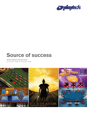 Playtech Plc annual report 2008