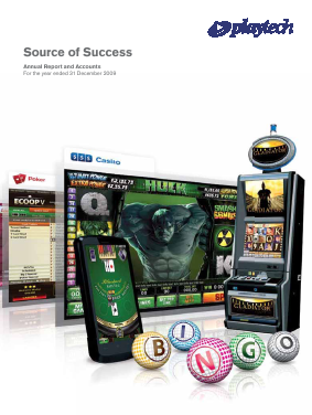 Playtech Plc annual report 2009