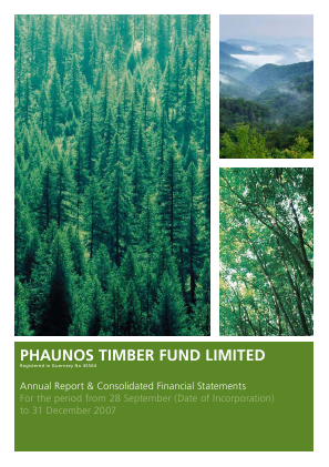 Phaunos Timber Fund annual report 2007