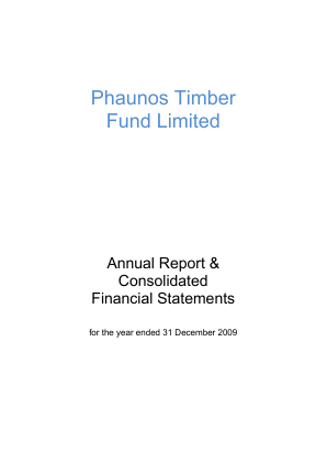 Phaunos Timber Fund annual report 2009