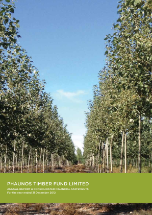 Phaunos Timber Fund annual report 2012
