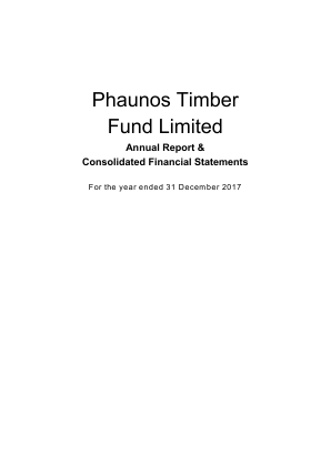 Phaunos Timber Fund annual report 2017