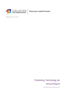 Ingenta plc (formally Publishing Technology Plc) annual report 2014