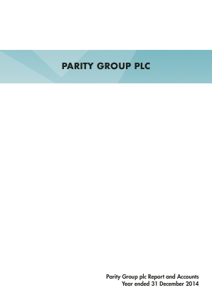 Parity Group annual report 2014