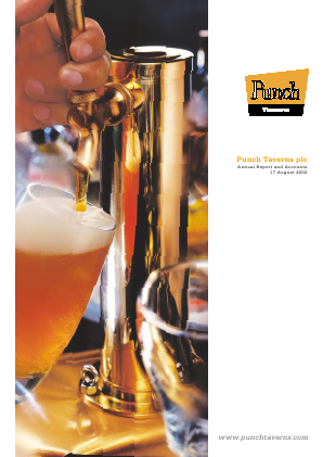 Punch Taverns annual report 2002