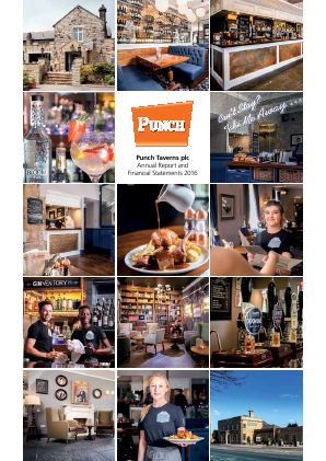 Punch Taverns annual report 2016