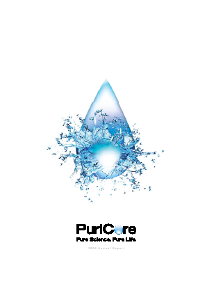 Puricore Plc annual report 2008