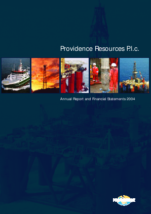 Providence Resources annual report 2004