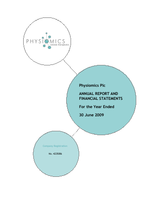 Physiomics Plc annual report 2009