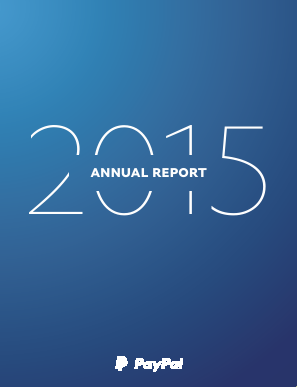 PayPal Holdings, Inc. annual report 2015