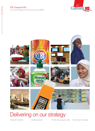 PZ Cussons annual report 2009