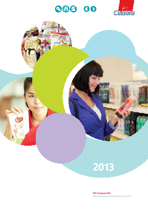 PZ Cussons annual report 2013