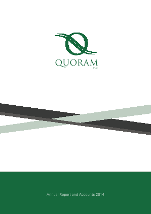 Quoram Plc annual report 2014